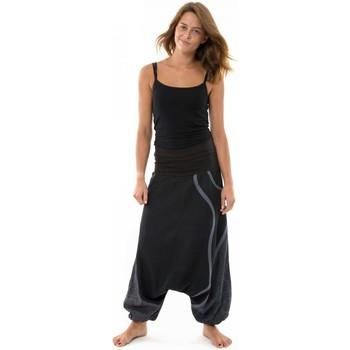 Vêtements Femme Pantalons fluides / Sarouels Fantazia Sarouel femme balloon bandeau elastique maternite Deedee Noir