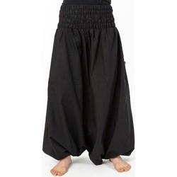 Vêtements Pantalons fluides / Sarouels Fantazia Sarouel ethnique grande taille mixte coton doux noir Noir