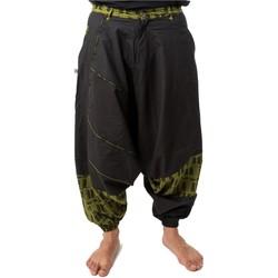 Vêtements Pantalons fluides / Sarouels Fantazia Sarouel homme ethnique Nehuda Noir