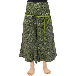 Vêtements Femme Pantacourts Fantazia Sarouel pantacourt jupe femme elastique imprime etoile Vert