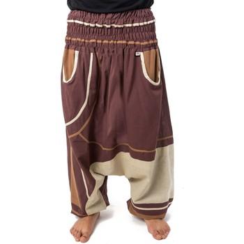 Vêtements Pantalons fluides / Sarouels Fantazia Sarouel homme femme elastique grande taille Brownie chocolat Marron