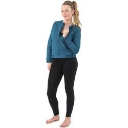 Vêtements Femme Manteaux Fantazia Veste blouson tailleur esprit neo teddy lady ethnic chic Bleu