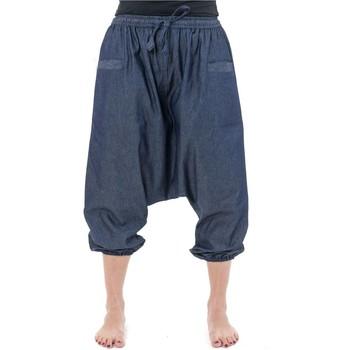 Vêtements Pantacourts Fantazia Pantacourt bermuda sarouel jean leger urban babacool mixte Bleu