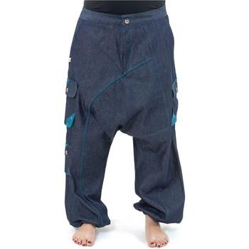 Vêtements Jeans Fantazia Sarouel baggy mixte jean denim urban ethnic Sikkou Bleu