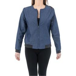 Vêtements Femme Manteaux Fantazia Veste style blouson teddy Jean urban chic blue denim et jersey Bleu