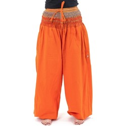 Vêtements Femme Pantalons fluides / Sarouels Fantazia Pantalon sarouel babacool large smock orange sari brillant Mik Orange