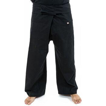 Vêtements Femme Calvin Klein Jeans Fantazia Pantalon Fisherman 100% coton epais + 10 couleurs Noir rayure turquoise