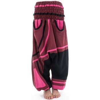 Vêtements Fille Pantalons fluides / Sarouels Fantazia Sarouel élastique fille Padmanita Noir