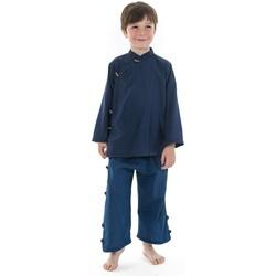 Vêtements Enfant T-shirts manches courtes Fantazia Chemise enfant ethnique bleu Bacca Bleu