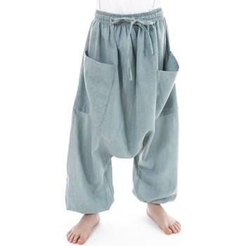 Vêtements Garçon Pantalons fluides / Sarouels Fantazia Sarouel pantalon enfant coton leger Ilam Gris