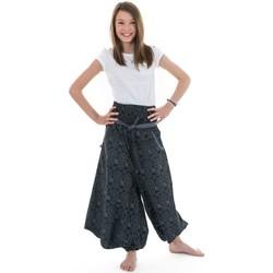 Vêtements Fille Pantalons fluides / Sarouels Fantazia Sarouel jupe ado ceinture elastique Kolamita Noir