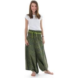 Vêtements Fille Pantalons fluides / Sarouels Fantazia Sarouel jupe ado elastique imprime etoile Gris