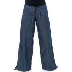 Vêtements Pantalons fluides / Sarouels Fantazia Pantalon blue jean hybride femme homme street chic Nila Bleu