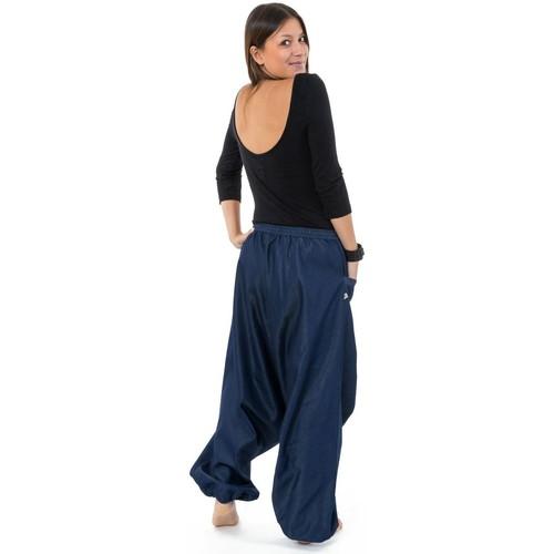 Pantalon sarouel jean denim street baba cool mixte Liam Fantazia jeans  bleu