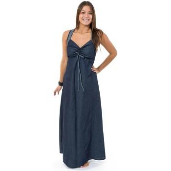 Vêtements Femme Robes Fantazia Robe longue jean denim doux originale Taly Bleu