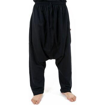 Vêtements Homme Pantalons fluides / Sarouels Fantazia Sarouel homme droit salwar traditionnel Nepal Pulabridge Noir