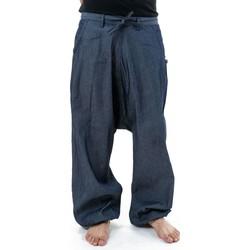 Vêtements Homme Pantalons fluides / Sarouels Fantazia Pantalon sarouel baggy jean homme urban street Sahari Bleu