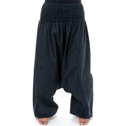 Vêtements Pantalons fluides / Sarouels Fantazia Sarouel grande taille elastique Jeenah Noir