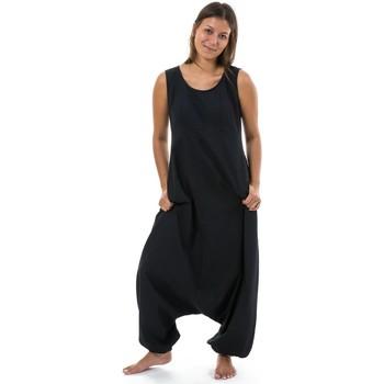 Vêtements Femme Combinaisons / Salopettes Fantazia Combi sarouel femme fourche basse Astina Noir