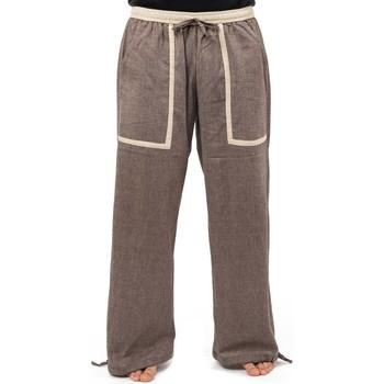 Vêtements Homme Pantalons fluides / Sarouels Fantazia Pantalon large confortable summer cocoon Marron