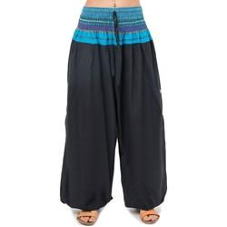 Vêtements Femme Pantalons fluides / Sarouels Fantazia Pantalon sarouel indian chic sari Noir