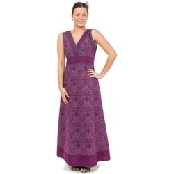 Vêtements Femme Robes Fantazia Robe longue print ethnic chic Violet