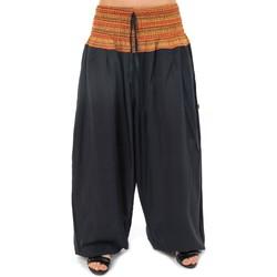 Vêtements Femme Pantalons fluides / Sarouels Fantazia Pantalon sarouel grande taille Sundhara Noir