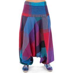 Vêtements Pantalons fluides / Sarouels Fantazia Saroual femme babacool arlequin Sambhoga Violet