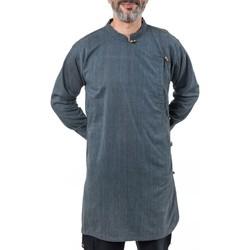 Vêtements Homme Chemises manches longues Fantazia Chemise tunique kurtha homme zen Bleu
