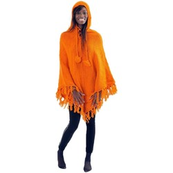 Vêtements Enfant Manteaux Fantazia Pancho pure laine douce du Nepal orange Orange