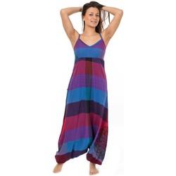 Vêtements Femme Combinaisons / Salopettes Fantazia Combinaison sarouel print mandala Carnival Bleu