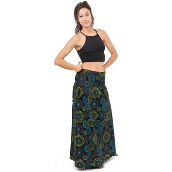 Vêtements Femme Jupes Fantazia Jupe longue imprime original Todaneh Noir