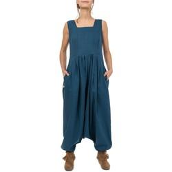 Vêtements Femme Combinaisons / Salopettes Fantazia Combinaison sarouel femme chic Chala Bleu
