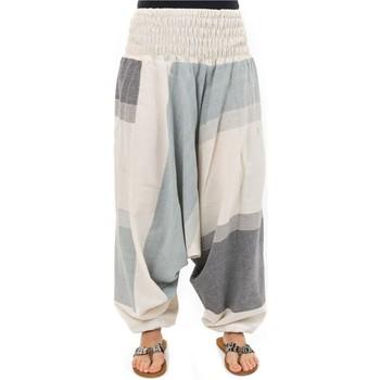 Vêtements Pantalons fluides / Sarouels Fantazia Sarouel et combishort bandeau elastique Blanc / écru