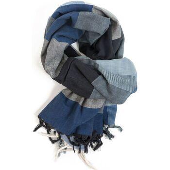 Accessoires textile Homme Echarpes / Etoles / Foulards Fantazia Cheche foulard etole fluide zen blue Bleu
