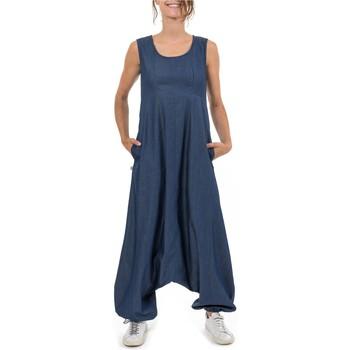 Vêtements Femme Combinaisons / Salopettes Fantazia Combi sarouel jean femme  Dhakka Bleu