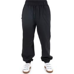 Vêtements Homme Pantalons fluides / Sarouels Fantazia Pantalon noir uni elastique Matiha Noir