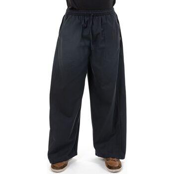 Vêtements Homme Pantalons fluides / Sarouels Fantazia Pantalon japonais original noir Noir
