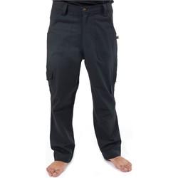 Vêtements Homme Pantalons fluides / Sarouels Fantazia Pantalon sarouel grande taille noir Noir