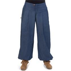 Vêtements Femme Pantalons fluides / Sarouels Fantazia Pantalon boule jean droit Rangoon Bleu