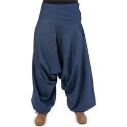 Vêtements Homme Pantalons fluides / Sarouels Fantazia Sarouel jean zen Mira Bleu