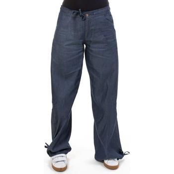 Vêtements Femme Pantalons fluides / Sarouels Fantazia Pantalon jean denim hybride street chic Lina Bleu