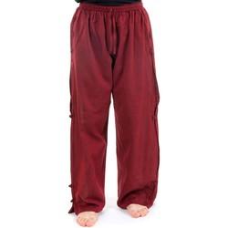 Vêtements Femme Pantalons fluides / Sarouels Fantazia Pantalon japonais large relax mixte bordeaux Rouge
