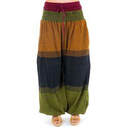 Vêtements Pantalons fluides / Sarouels Fantazia Pantalon saroual bouffant soft babacool Jaune