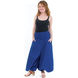 Vêtements Femme Pantalons fluides / Sarouels Fantazia Sarouel jupe-culotte femme bleu roi Bleu