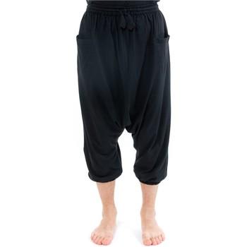 Vêtements Homme Pantacourts Fantazia Pantacourt sarouel bermuda noir casual Noir