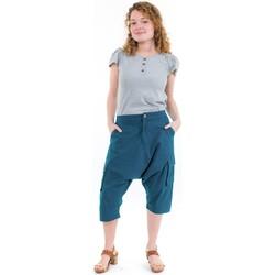 Vêtements Pantacourts Fantazia Sarouel bermuda cargo mixte petrole Bleu