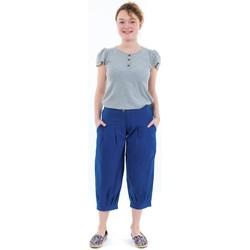 Vêtements Femme Pantacourts Fantazia Pantacourt bouffant femme bleu royal Bleu