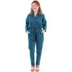 Vêtements Femme Grace & Mila Fantazia Combinaison pantalon style saharienne bleu Bleu