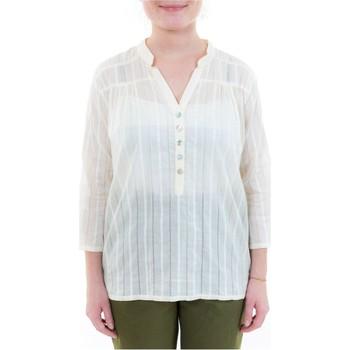 Vêtements Femme Chemises / Chemisiers Fantazia Blouse femme broderies et boutons nacre Blanc / écru